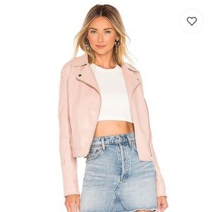 Obey Clothing Blush Leather Moto Jacket NWT -SMALL